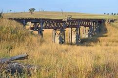 Pont de chemin de fer en bois historique près de Boorowa Image libre de droits