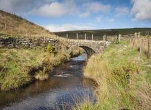 Pont de cheval de bât de bruyère de vallées de Yorkshire Image stock