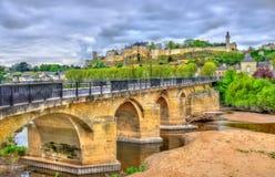 Pont de Chinon, μια γέφυρα πέρα από τη Βιέννη σε Chinon, Γαλλία Στοκ εικόνες με δικαίωμα ελεύθερης χρήσης