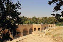 Pont de Chubi dans la ville d'Esfahan, Iran Images stock