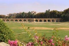 Pont de Chubi dans la ville d'Esfahan, Iran Photos stock