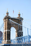 Pont de Cincinnati, Ohio Images stock