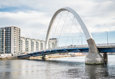Pont de Clyde Arc, Glasgow Photographie stock libre de droits