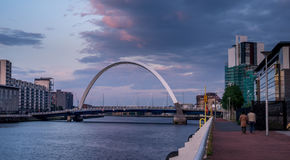 Pont de Clyde Arc, Glasgow Photo libre de droits