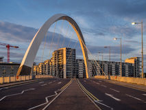 Pont de Clyde Arc, Glasgow Images stock