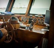 Pont de contrôle de bateau Photographie stock libre de droits