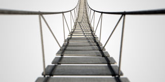 Pont de corde Image stock