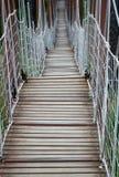 Pont de corde avec le foyer sélectif Photo libre de droits