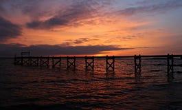 Pont de coucher du soleil Images libres de droits