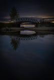 Pont de coucher du soleil Photos libres de droits