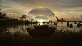 Pont de coucher du soleil Images stock