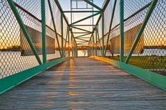 Pont de coucher du soleil d'île de casino - HDR Photo libre de droits