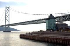 Pont de  d'Akashi-KaikyÅ Image stock