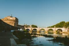 Pont de ` d'Angelo de ` de Castello di Sant images stock