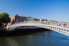 Pont de demi-penny, Dublin City image libre de droits