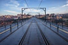 Pont de Dom Luiz I à Porto Photo libre de droits