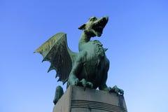 Pont de dragon, Ljubljana Slovénie photographie stock
