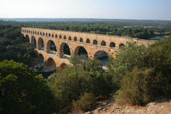 pont de du France le Gard Photo stock