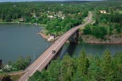 Pont de Färjsundsbron Images libres de droits