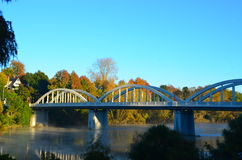 Pont de Fairfield, Hamilton, Waikato, Nouvelle-Zélande Image stock