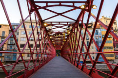 Pont de Ferro, constructed by Eiffel, in Girona Stock Photography