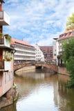 Pont de Fleisch à Nuremberg, Allemagne Images libres de droits
