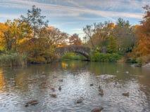 Pont de Gapstow en automne en retard photos libres de droits