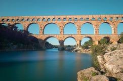 Pont de Gard royaltyfria bilder