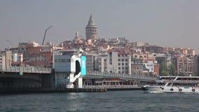 Pont de Gatala à Istanbul, Turquie Images libres de droits