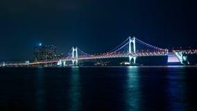 Pont de Ghwangan, Busan Photographie stock