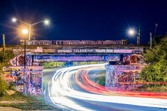 Pont de graffiti Photos stock