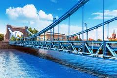 Pont de Grunwald à Wroclaw, Pologne images stock