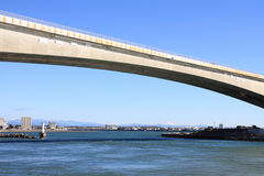 Pont de Hamana et lac Hamanako à Hamamatsu, Shizuoka Image stock