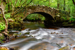 Pont de Hisley sur Dartmoor Images stock