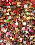 Pontde HohenzollernCologne Allemagne Amour pour toujours images libres de droits