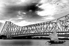 Pont de Howrah Images stock