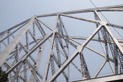 Pont de Howrah dans Kolkata Image libre de droits