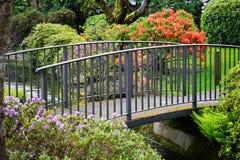 Pont de jardin Photo libre de droits