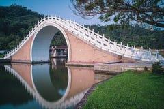 Pont de Jindai de parc de Dahu dans le secteur de Neihu, Taïpeh, Taïwan Photos libres de droits