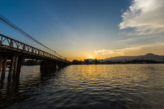 Pont de Kampot Images libres de droits