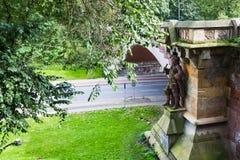 Pont de Kersten Miles Brucke dans la ville de Hambourg Images libres de droits