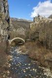 Pont de Kontodimos, montagnes de Pindus, Zagori, Épire Photographie stock libre de droits