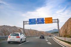 Pont de Krk de péage de Higway image stock
