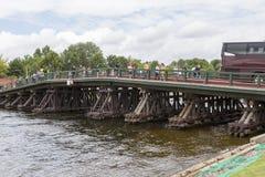 Pont de Kronverksky - un pont au-dessus du détroit de Kronverksky dans le secteur de Petrogradsky de St Petersburg images stock