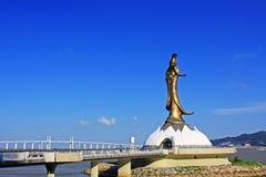 Pont de Kun Iam Statue And Amizade, Macao, Chine Image libre de droits