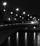 Pont de l'Alma in Paris, France at night Stock Images