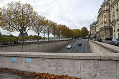 Pont de l'Alma Tunnel in Paris - The site of Princess Diana's De Stock Images
