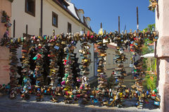 Pont de l'amour à Prague Photographie stock