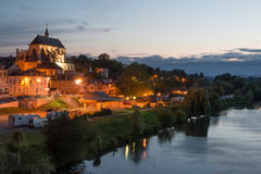 Pont de l'Arche. Beautiful Normandy town on the bank of Seine Royalty Free Stock Photos