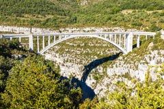 Pont de l& x27; & x27; Artuby, ущелье Вердон, Провансаль, Франция стоковое изображение